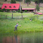 Teaching my boy to fly fish at Cow Creek Ranch.